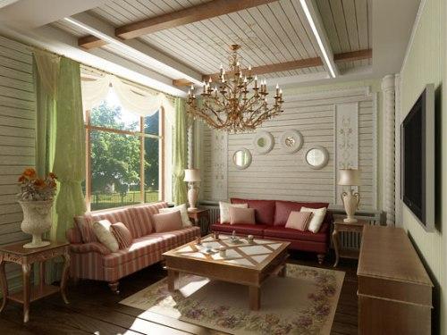 Прованс стиль в интерьере гостиной
