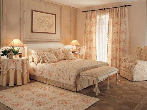 Прованс стиль в интерьере спальни
