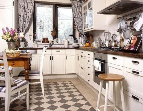 Ретро стиль в интерьере кухни