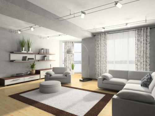 Серый цвет в интерьере. Фото