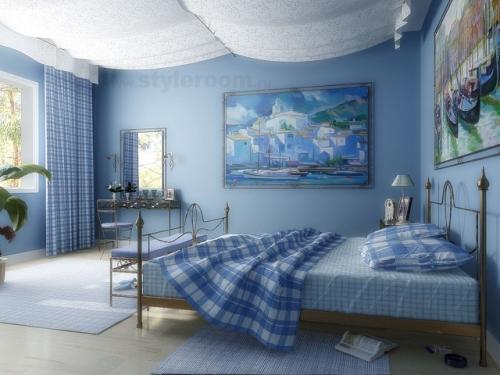 Синий цвет в интерьере. Фото 14