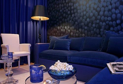 Синий цвет в интерьере. Фото 2