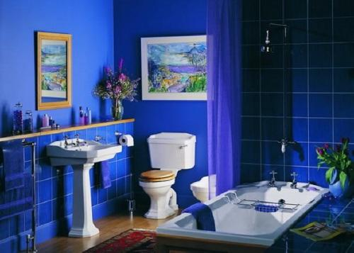 Синий цвет в интерьере. Фото 3