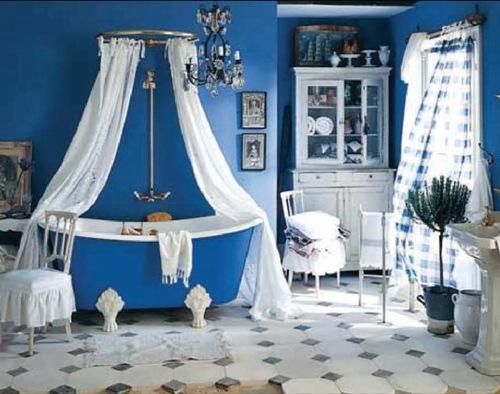 Синий цвет в интерьере. Фото 4