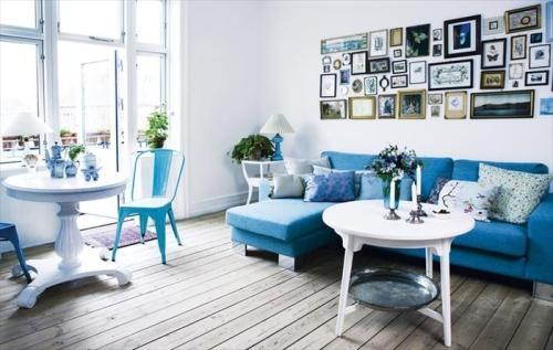 Синий цвет в интерьере. Фото 5