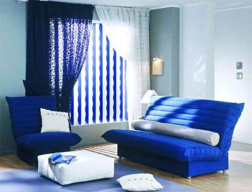Синий цвет в интерьере. Фото 9