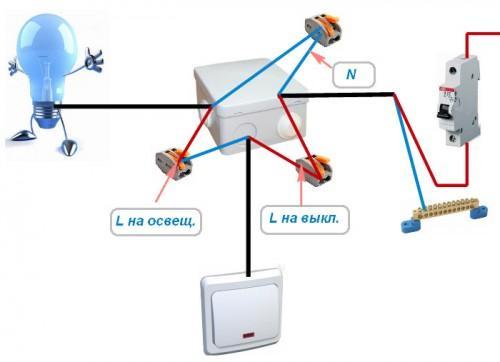 Схема подключения проводов без