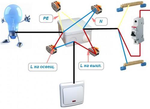 Схема подключения проводов с заземлением