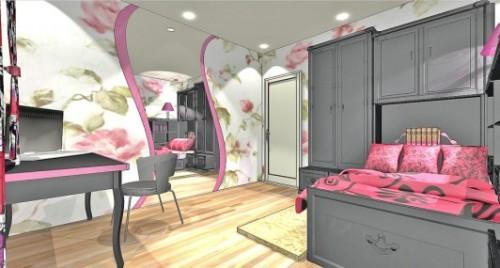 Спальня для девушки. Фото 10