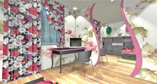 Спальня для девушки. Фото 7