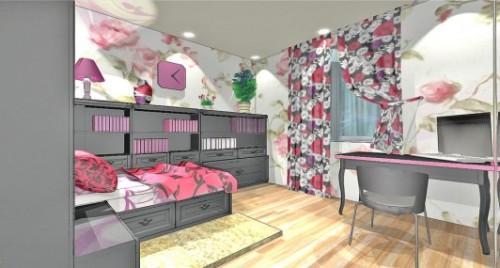 Спальня для девушки. Фото 8