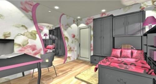 Спальня для девушки. Дизайн-проект