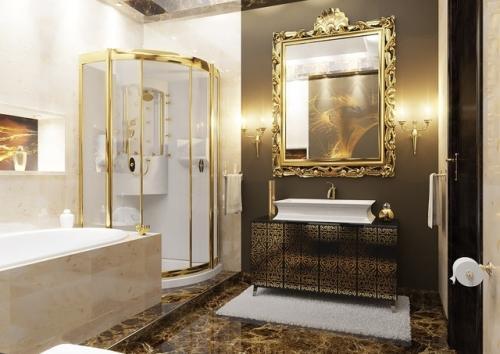 Стиль арт деко в интерьере ванной