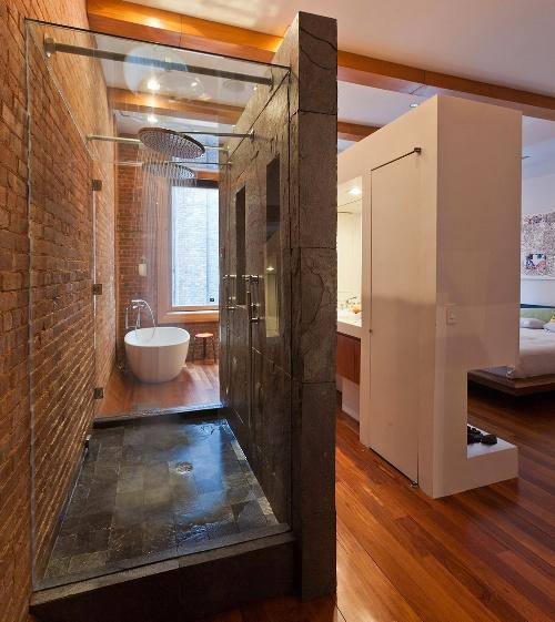 Ванная в стиле лофт