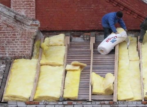 Утепление наружной стороны плоской крыши