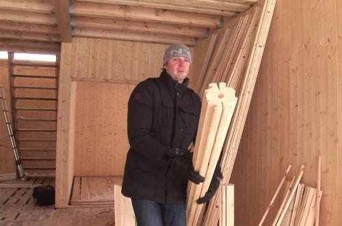 Вертикальный брус для строительства дома