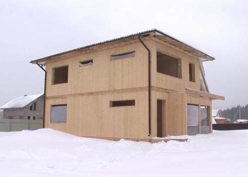 Вертикальный брус. Строительство дома из вертикального бруса