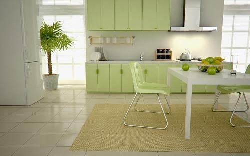 Зеленый цвет в интерьере. Фото 10