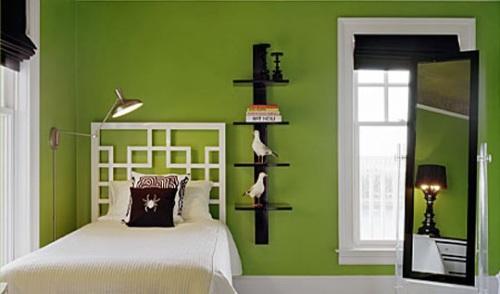 Зеленый цвет в интерьере. Фото 12