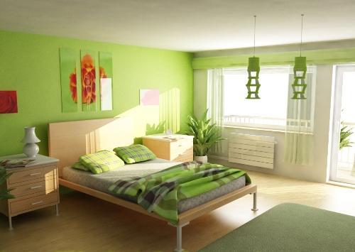 Зеленый цвет в интерьере. Фото 2