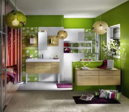 Зеленый цвет в интерьере. Фото 8