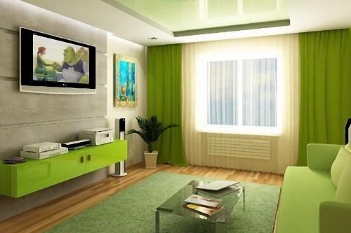 Зеленый цвет в интерьере. Фото