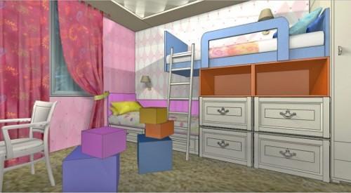 Детская комната для двух девочек. Фото 2