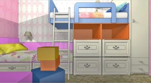Детская комната для двух девочек. Фото 3