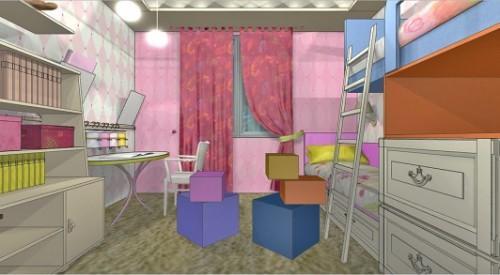 Детская комната для двух девочек