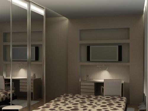 Дизайн спальни с телевизором. Фото 10