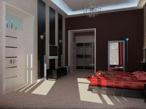 Дизайн спальни с телевизором. Фото 2