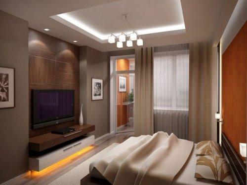 Дизайн спальни с телевизором. Фото 4
