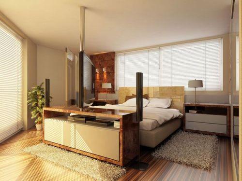 Дизайн спальни с телевизором. Фото 5