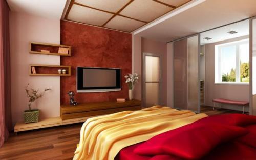 Дизайн спальни с телевизором. Фото 8