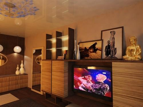 Дизайн спальни с телевизором. Фото 9