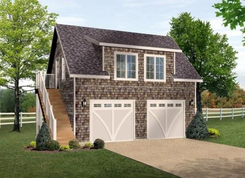 Размер двухместного гаража
