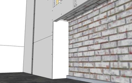 Как обшить стены гипсокартоном. Фото 17