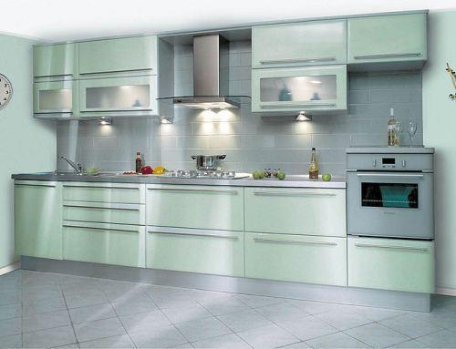 Фасады для кухни с эмалевым покрытиям
