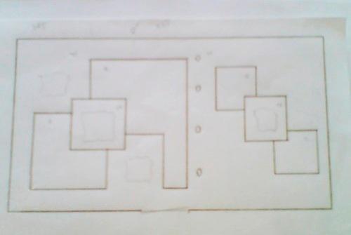 Эскиз многоуровневого потолок из гипсокартона