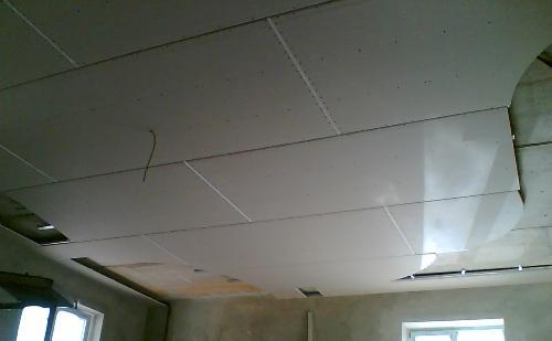 Монтаж второго уровня потолка из гипсокартона