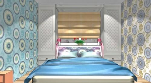 Спальня и детская в одной комнате. Фото 2