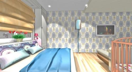 Спальня и детская в одной комнате. Фото 3