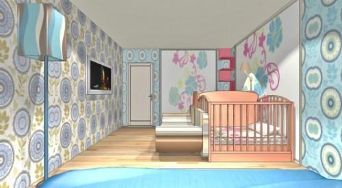 Спальня и детская в одной комнате. Фото 5