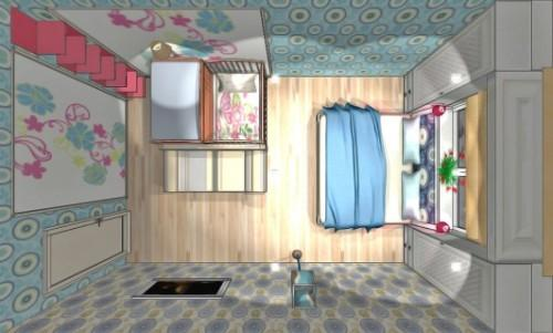 Спальня и детская в одной комнате. Фото 6