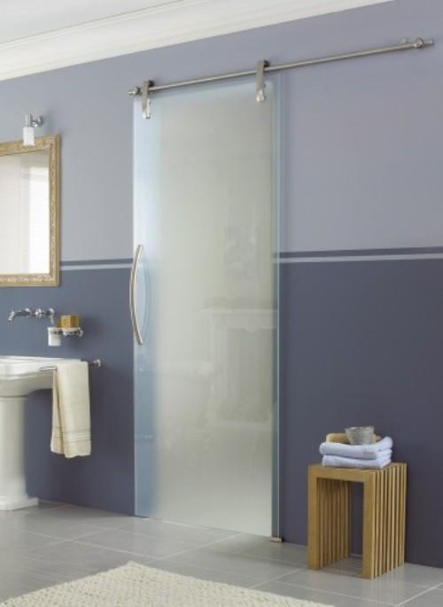 Стеклянные двери для ванной и туалета. Фото 7