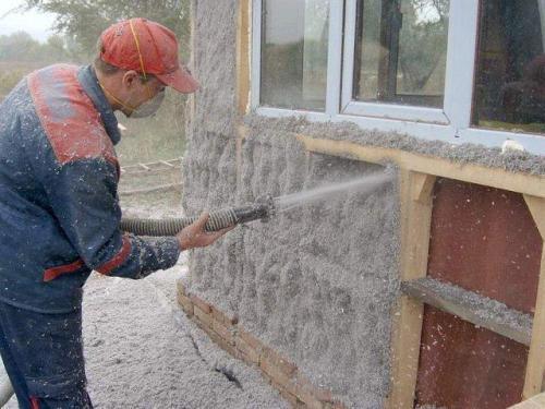 Эковата для утепления каркасного дома