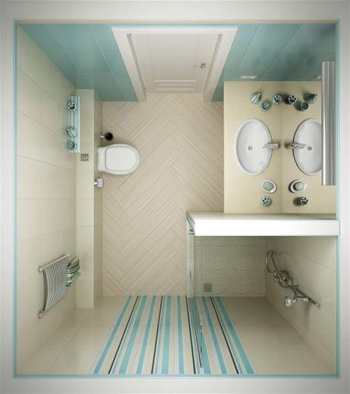 Ванная комната 3 кв. м. Фото 10