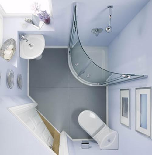Ванная комната 3 кв. м. Фото 3