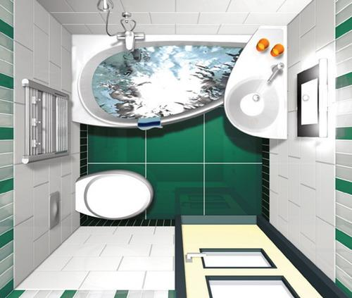 Ванная комната 3 кв. м. Фото 4