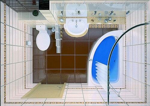 Ванная комната 3 кв. м. Фото 7